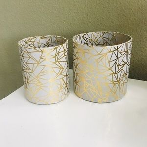 Storage Containers - Geometric Modern - Gold Gray